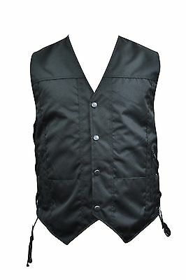 Textile Men's Motorcycle Biker Vest 10 Pockets Model Brand New All Sizes