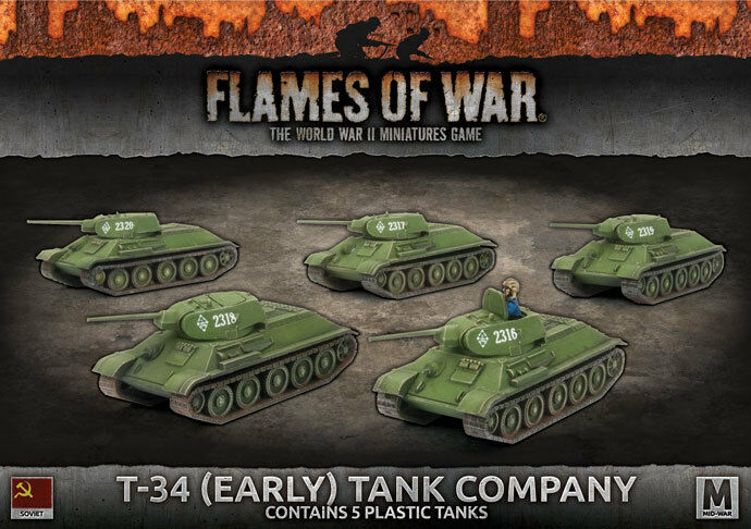 Flames of War - T-34 (Early) Tank Company - Soviet - SBX39