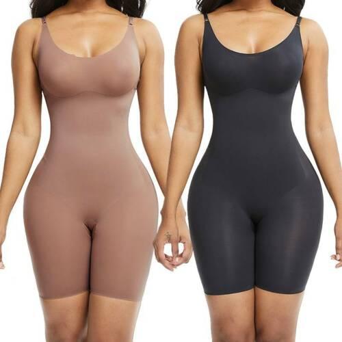 Details about  /Women Seamless Full Body Shapewear Tummy Control Shaper Thigh Slimmer Bodysuit