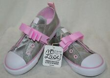 bdadec58aee4 Converse CT All Star Simple Slip OX Silver/Pink Toddler Girl's Sneakers-Sz 9