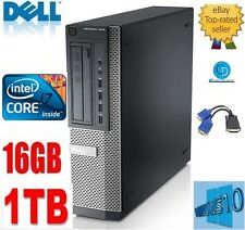 DELL OPTIPLEX i7 DT.790.QUAD CORE 3.40GHZ 16GB.1TB HD.WiN 10,DVD+GRAPHICS card.