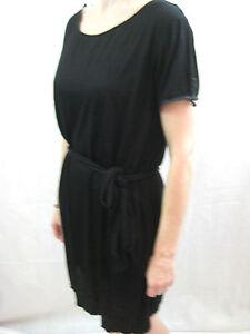 Cohen-et-Sabine-Size-12-Basic-Black-t-shirt-dress