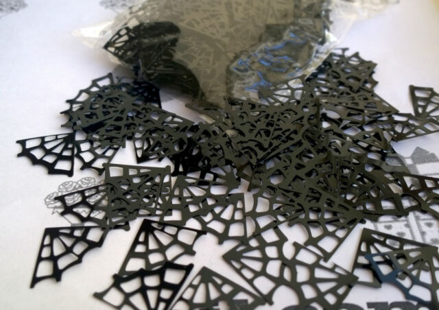 Spider Webs Web Table Confetti Boys Birthday Party Decorations Black Sprinkles