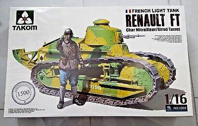 Takom 1//16 1002 French Light Tank Renault FT