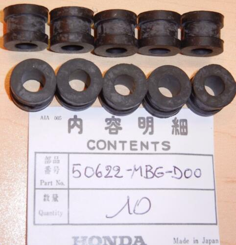 Honda 1999-on VFR800 10-pack of rubber step plate grommets 50622-MBG-D00  Z1 *