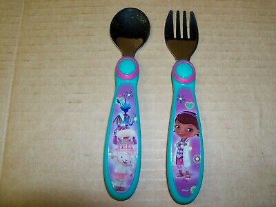 Disney Doc McStuffins Fork and Spoon set The First Years Flatware 9 months