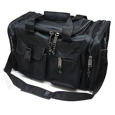 "17"" Black Duffle Style Range Bag - Shooting Gun Hunting Carry On  w/ Padded Lid"