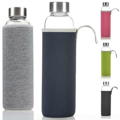 Dimono Trinkflasche Glasflasche Wasserflasche Neopren-Sleeve /& Edelstahl Filter