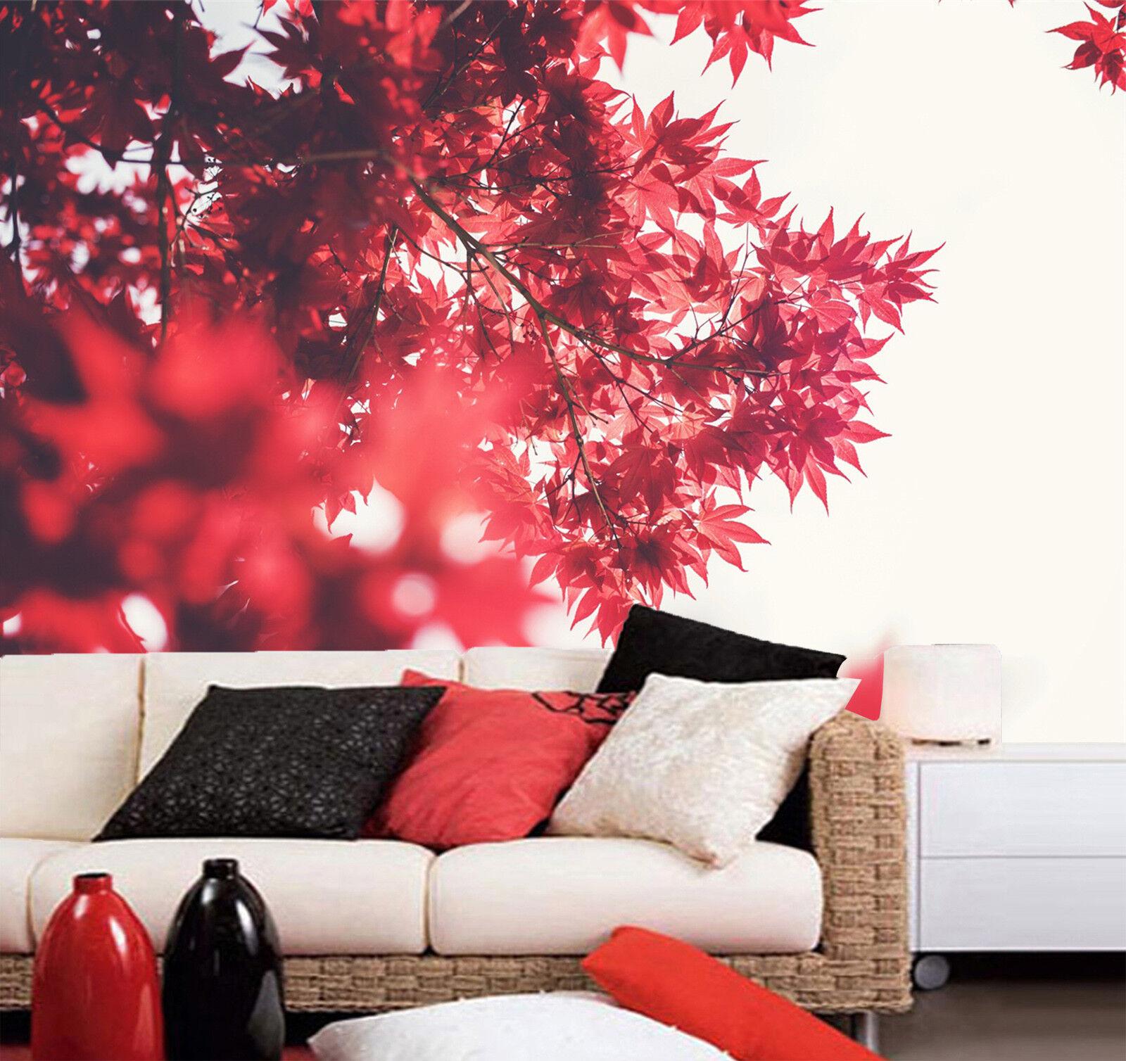3D árbol de arce rojo rojo rojo 98 Wallpaper Mural Papel Pared Estampado Papel Pintado Mural 2f89ac