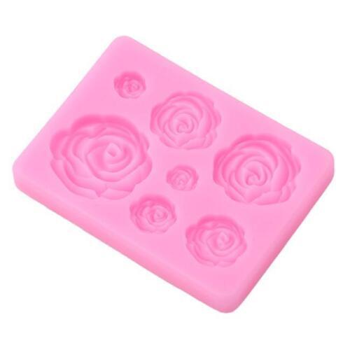 Silicone Flower Fondant Mould Cake Decor Icing Sugarcraft Mold Baking Tools CO