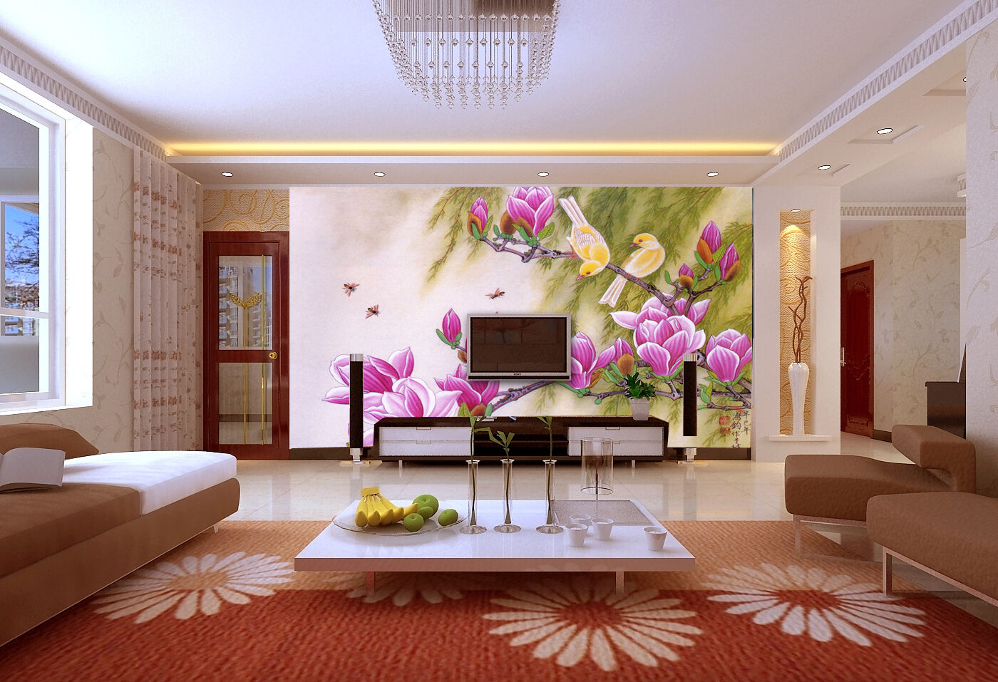 3D Branch Flowers  20 Wall Paper Murals Wall Print Decal Wall Deco AJ WALLPAPER