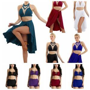 Girl-Women-Ballet-Lyrical-Dance-Dress-Outfit-Costume-Gymnastic-Dancewear-Active