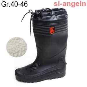 PVC-Stiefel-gefuettert-Thermostiefel-Winterstiefel-Gr-40-46-Fladen-Anglerstiefel