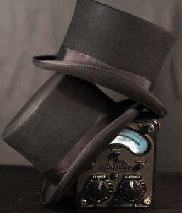Victorian-Edwardian-City-Gent-Steam-punk-100-Black-Woolfelt-High-Topper
