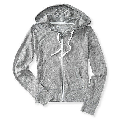aeropostale womens solid lightweight full-zip hoodie