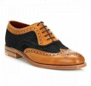 Scarpe-oxford-brogue-in-pelle-marrone-chiaro-bicolore-a-punta-bicolore-da-uomo