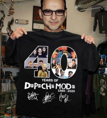 New 40 Years Of Depeche Mode 1980 2020 T-Shirt Gildan Men Women T SHIRT S-5XL