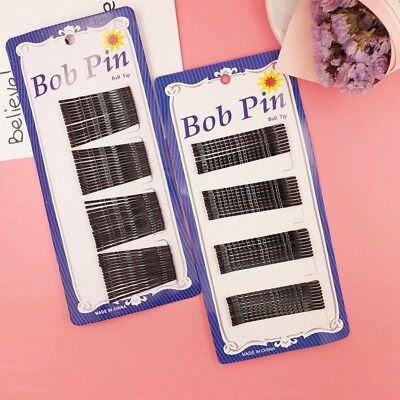 1Sheet Hair Clips Black Bobby Pins Hair Grips Slides Metal Hairpins Accessories