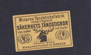 Ancienne étiquette Allumettes Suède BN52346 Cerf TZRWMvfO-08062718-597126980