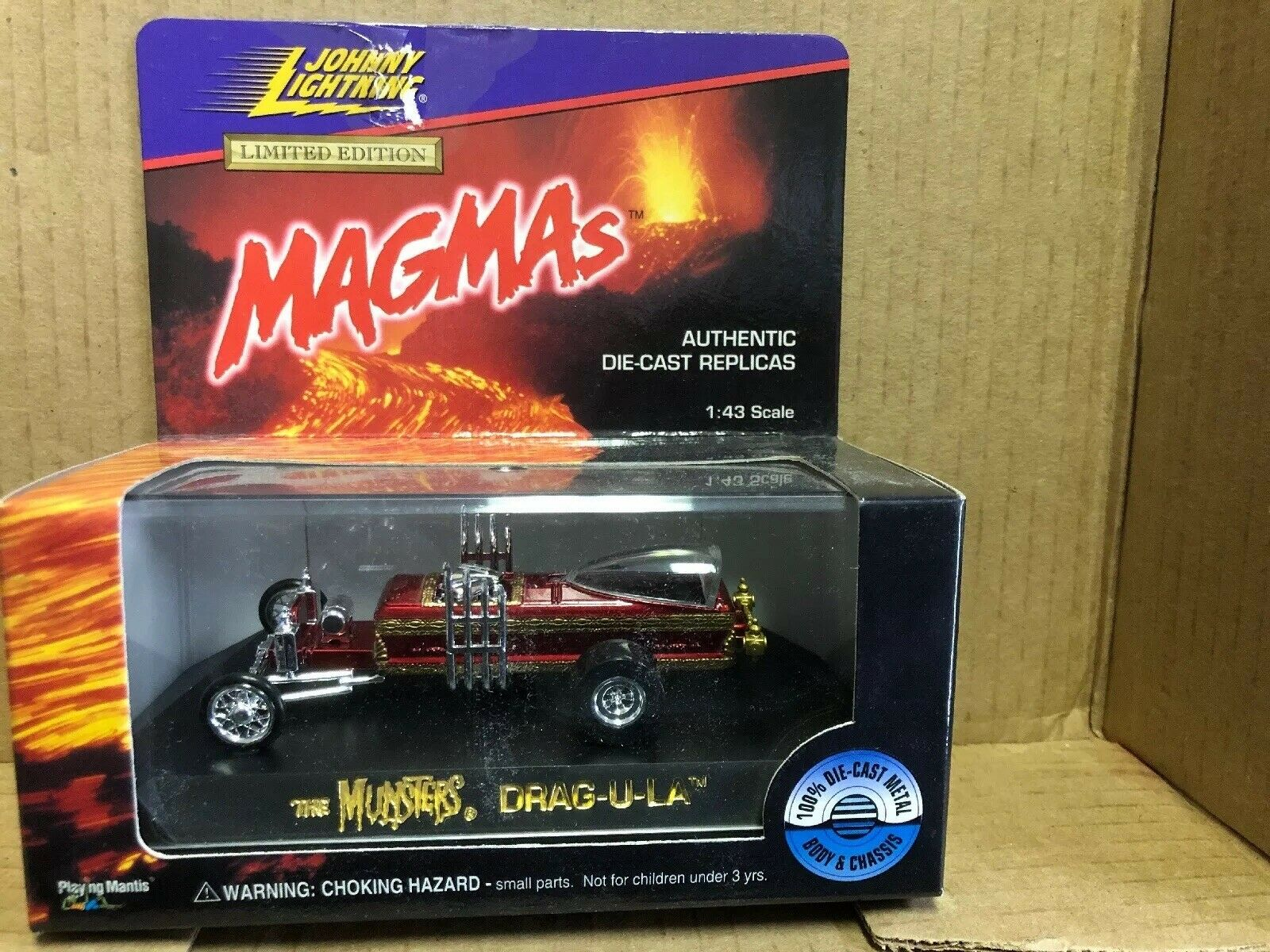 1996 JOHNNY lumièreNING Limited Edition magmas échelle  1 43 Rouge Munsters Drag-U-La  vente discount