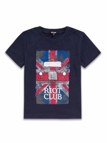 Boys Navy T Shirt London Taxi English Flag Short Sleeve Top Ages 2-8 Free P+P