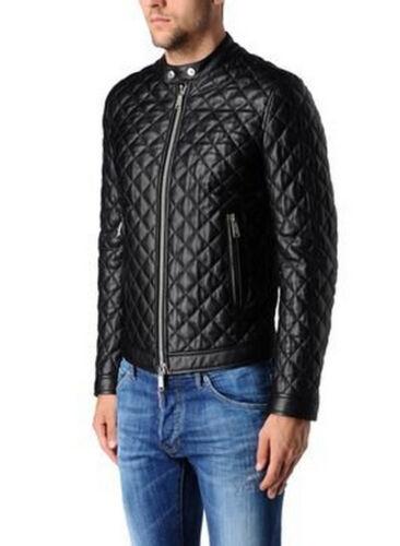 Giacca Giubbotto in Pelle Uomo Men Leather Jacket Veste Blouson Homme Cuir R5a