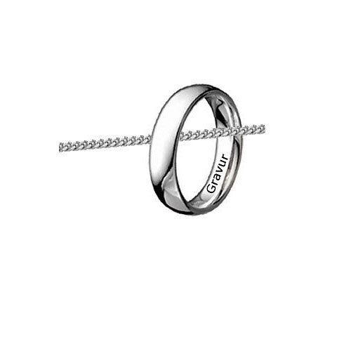 Love Ring als Halskette-Einzeln oder Paarweise-925er Sterling Silber-Inkl.Gravur