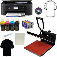 15x15 Heat Press Wireless Printer Bulk Ink Transfer Paper Tshirt Start Up Bundle