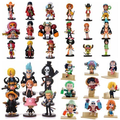 ONE PIECE - Set figuras PVC,  figure model Anime 9 pcs/set, Luffy, Shanks model