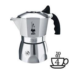 caffe Caffettiera MOKA BRIKKA bialetti 4 tazze alluminio con Scatola Wow: crema