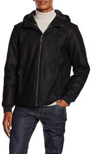 Versace Jeans Mens Black hooded quilted Jacket Coat size 48(M ... 28fbd4eeebf