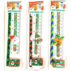 Christmas Stationery.Details About Set Of 3 Christmas Stationery Sets Xmas Gift Filler Idea Children School