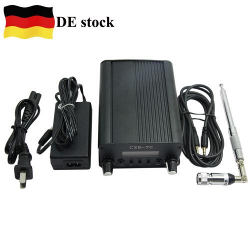 CZE-7C Stereo FM Transmitter Frequency Adjustable 1W//7W Radio Emitter Combo //DE