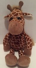 "Target Brown Beige Plush Giraffe Beanbag Stuffed Animal Machine Washable 16"""