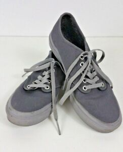 bad1a81d88 Women s Vans Off The Wall Gray canvas grey soles shoes Size 7.5 ...