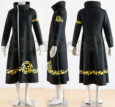 One Piece Trafalgar Law Coat 2 years time-skip Cosplay Costume Tailored New