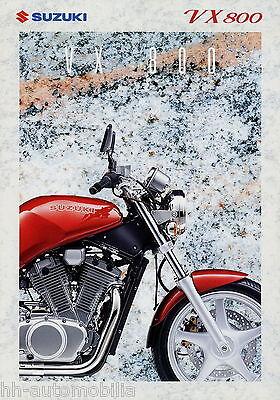 2019 Neuestes Design Prospekt Suzuki Vx 800 10 94 1994 Motorradprospekt Motorrad Brochure Broschyr In Verschiedenen AusfüHrungen Und Spezifikationen FüR Ihre Auswahl ErhäLtlich