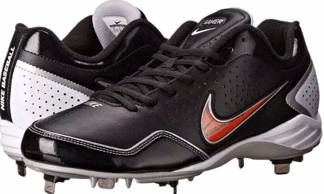 Nike Gamer Conversion Baseball Cleats, Blk/White,Metal SIZE 14 NEW best-selling model of the brand
