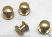 WWII style Brass Rifle Sling Buttons 1/2in L x 9/16in w x 1/4in Lot of 4 E2107