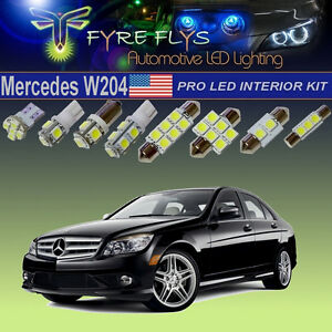 22x-6000K-Xenon-White-LED-Lights-C-Class-W204-Interior-Exterior-Pro-Package-Kit