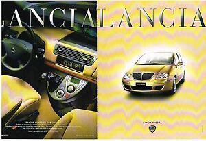 PUBLICITE ADVERTISING  2002   LANCIA  PHEDRA  ( 2 pages)