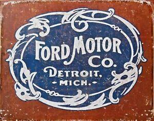 Platte-Metall-USA-Vintage-Ford-Motor-Co-40-X-30-CM