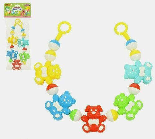 KINDERWAGENKETTE Rassel Kette Tiere Baby Spielzeug Kinderwagen Babyschale 66cm