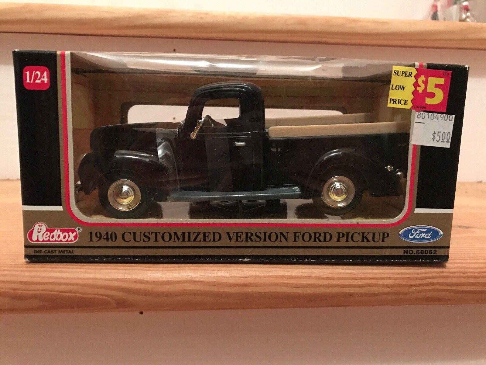 Redbox 1940 Ford Pickup Truck 68062 1 24 Die Cast Collector Model 1948 S Car Ebay