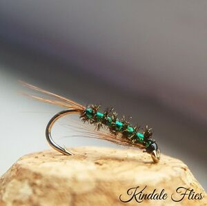 J//C Red Holo Quill Diawl Bachs size 16 Set of 3 Fly Fishing Straight DB