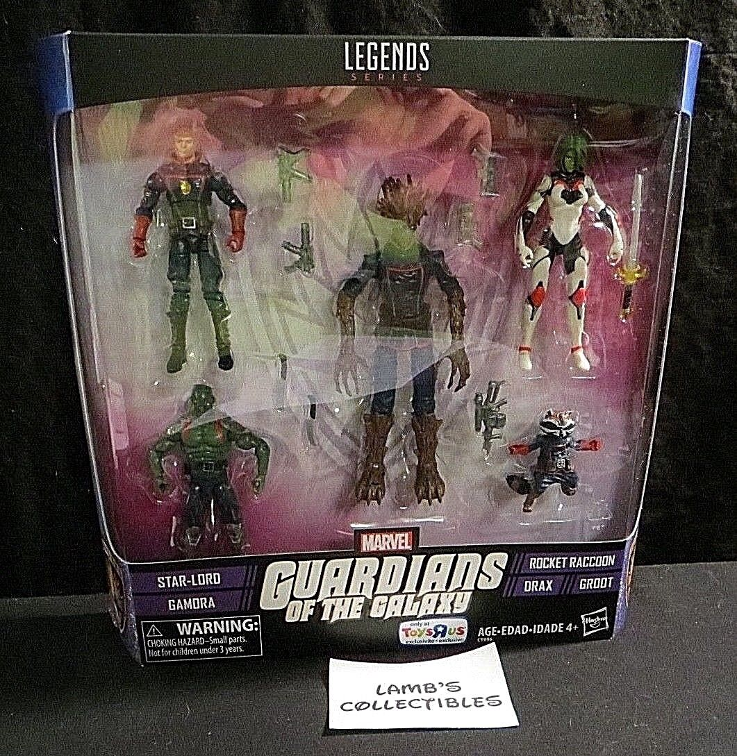 Marvel Legends Series Guardians of the Galaxy Toys R US exclusive set 5 figures