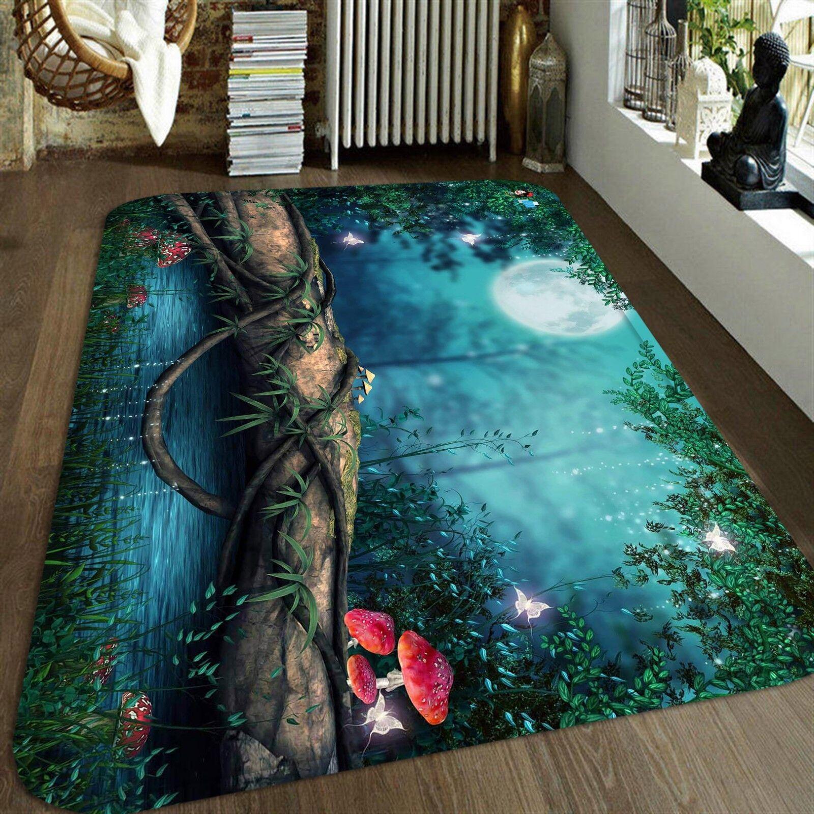 3D Forest 1236 Étage Antidérapant Natte Élégant Tapis FR Summer
