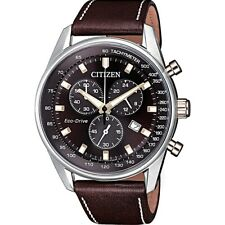 Citizen Eco-Drive Men's Global Collection Brown Dial 40 mm Watch AT2396-27X