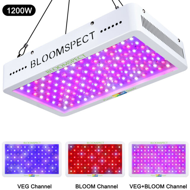 BLOOMSPECT 1200W LED Grow Light Full Spectrum for Indoor Plants (120pcs 10W  LED)