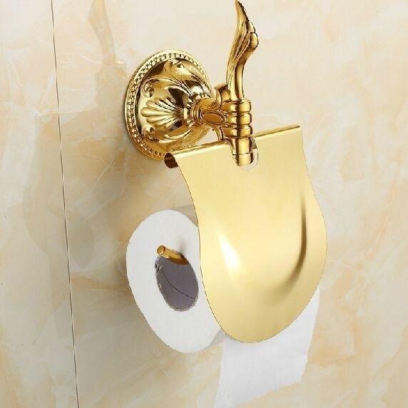 Toilettenrollenhalter Toilettenpapierhalter WC Rollenhalter Vintage Antik Gold